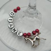 Horse Personalised Wine Glass Charm